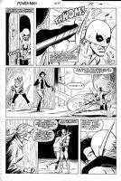 LaROCQUE, GREG - Powerman & Iron Fist #104 pg 15, Iron Fist ducks & kissed by Misty Knight + Colleen Wing Comic Art