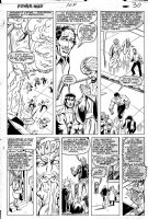 LaROCQUE, GREG - Powerman & Iron Fist #104 pg 30, PM & Iron Fist + Misty Knight & Colleen Wing + Sons of Tiger Comic Art