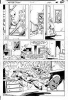 LaROCQUE, GREG - Powerman & Iron Fist #106 pg 22,  Iron Fist beats Whirlwind Comic Art