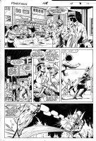 LaROCQUE, GREG - Powerman & Iron Fist #108 pg 11, PM &  Iron Fist teamup Comic Art