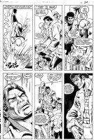 COWAN, DENYS / CARL POTTS - Powerman & Iron Fist #89 pg 30, PM & Iron Fist trying to save lives Comic Art