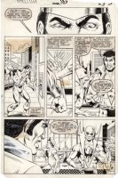 LaROCQUE, GREG - Powerman & Iron Fist #103 pg 3, Iron Fist & Luke Cage play tough Comic Art