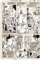 LaROCQUE, GREG - Powerman & Iron Fist #106 pg 18, Iron Fist & Luke Cage in streets Comic Art