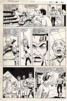 LaROCQUE, GREG - Powerman & Iron Fist #106 pg 19, Luke Cage & gun caring store owner Comic Art