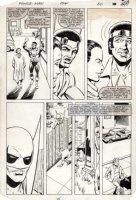 LaROCQUE, GREG - Powerman & Iron Fist #106 pg 20, Luke Cage & Iron Fist stopping crime Comic Art