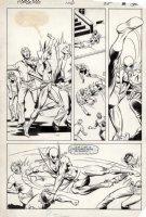 LaROCQUE, GREG - Powerman & Iron Fist #106 pg 25, four-panels - Iron Fist in martial arts action Comic Art