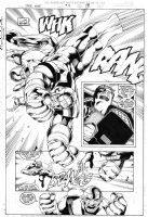 CHEN, SEAN - Iron Man (V.3) #13 pg 19, Splash page with inset panels. Iron Man, AND Tony Stark, battle the Controller Comic Art