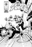 CHEN, SEAN - Rai and the Future Force #12 cover Comic Art