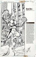 RYAN, PAUL - Superman Villains Secret Files  #1 pinup splash, Atomic Skull 1998 Comic Art