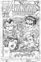MORGAN, TOM - Avengers West Coast #58 cover, Iron Man Comic Art