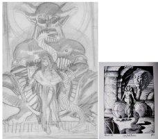 BRUNNER, FRANK - Cleopatra Flesh and Fantasy plate 3, prelim detail and ref, 1974 Comic Art