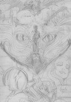 BRUNNER, FRANK - Elric  semi-splash pg, Heavy  Metal, pencil design Comic Art