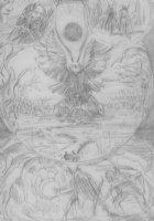 BRUNNER, FRANK - Elric semi-splash bird pg, Heavy Metal, pencil design Comic Art