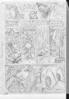 BRUNNER, FRANK - Quack (Dexter Duck) #1 pg 4 pencil design on vellum Comic Art