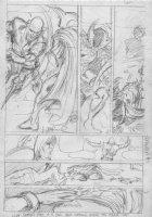 BRUNNER, FRANK - Doctor Strange #4? pg pencil design on vellum Comic Art