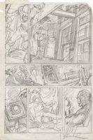 BRUNNER, FRANK - Doctor Strange #2? pg, Silver Dagger/ Clea, pencil design on vellum Comic Art