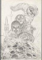 BRUNNER, FRANK - Lost In Space print, pencil design on vellum Comic Art