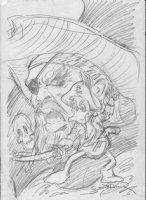 BRUNNER, FRANK - Quack #1 (Dexter Duck) cover pencil design on vellum Comic Art