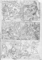 BRUNNER, FRANK - Quack #1 (Dexter Duck) pg 6 pencil design on vellum Comic Art