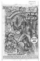 BRUNNER, FRANK - Chamber of Chills #4 pg 1 splash, pencil design Comic Art