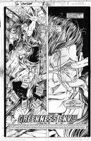 LASHLEY, KEN - Doc Samson #1 pg 1, splash, Doc with shades & female runs in terror Comic Art