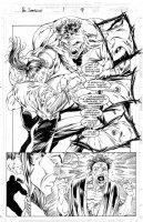 LASHLEY, KEN - Doc Samson #1 pg 9, splashy fight with Hulk Comic Art