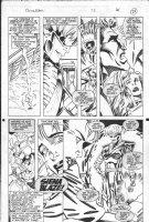 LASHLEY, KEN - Excalibur #72 pg 25, Nightcrawler & Kitty face Siena Blaize Comic Art