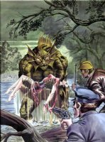 COCKRUM, DAVE - Legion of Monsters #1 Marvel cover 1st painting, Manphibian 1975 Comic Art