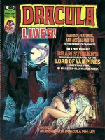 DOMINGUEZ, LUIS - Dracula Lives #5 cover painting, Dracula surprises a scantily clad Mina Harker! Shown with logo on overlay Comic Art