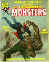 NOREM, EARL - Vampire Tales #12 painted cover 1975 for MP #8 'Legion of Monsters' story Comic Art