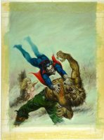NOREM, EARL - Vampire Tales #12 painted cover 1975 for MP #8 'Legion of Monsters' story - NO LOGO Comic Art