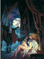 DOMINGUEZ, LUIS - Dracula Lives #5 cover painting, Dracula surprises a scantily clad Mina Harker! Comic Art