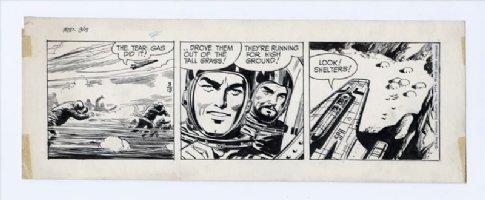 BARRY, DAN - Flash Gordon daily 3-13 1974, Flash, Zarkov in space ship Comic Art