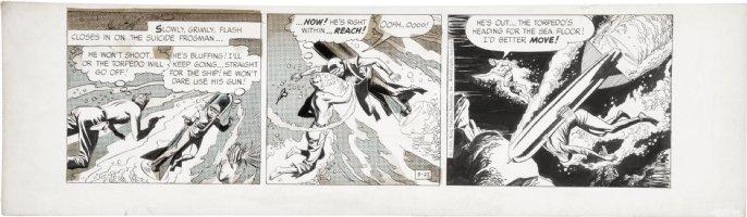 BARRY, DAN - Flash Gordon daily 9-27 1956, underwater Comic Art