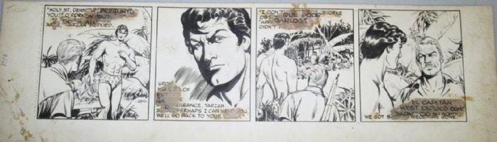 BARRY, DAN - Tarzan daily #2841 1948, all Tarzan! Comic Art