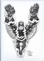 ROYER, MIKE / based on JACK KIRBY pencils - Black Bolt Comic Art