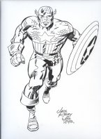 ROYER, MIKE / based on JACK KIRBY pencils - Captain America Comic Art