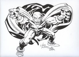 ROYER, MIKE / based on JACK KIRBY pencils - Demon leaps Comic Art