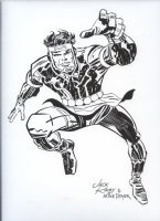 ROYER, MIKE / based on JACK KIRBY pencils - Mark Moonrider of Forever People Comic Art