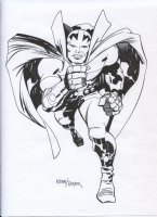 ROYER, MIKE / based on JACK KIRBY pencils - Mr Miracle Comic Art