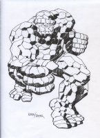 ROYER, MIKE / based on JACK KIRBY pencils - Fantastic Four' THING Comic Art