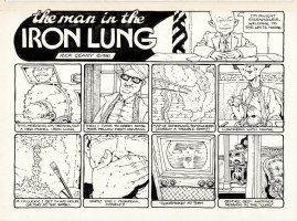 GEARY, RICK - U-Comix #28, 1-pager, President Eisenhower   The Man in the Iron Lung  1980 Comic Art