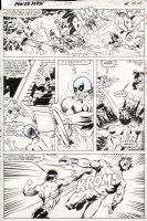 LaROCQUE, GREG - Power-Man & Iron-Fist #110 pg 17, Cage & IF battle the badguy Comic Art