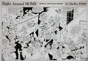 FISHER, DUDLEY - Right Around Home Sunday 4/2 1950 Comic Art