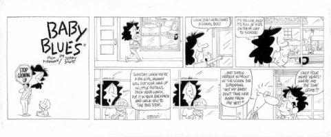 KIRKMAN, RICK & JERRY SCOTT - Baby Blues Sunday 9/26 1995 Comic Art