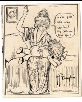DRAYTON, GRACE - Dolly Dimples final panel, signed, artist of  Campbell Soup Kids  Comic Art