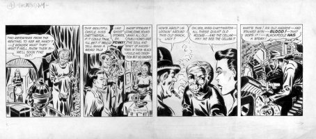 SIMON & JACK KIRBY - Green Hornet daily #4 comic strip 1st prototype, murder clues 1941-42 Comic Art