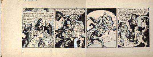 SIMON & JACK KIRBY - Green Hornet daily #5, comic strip 1st prototype, early 1941-42 Comic Art