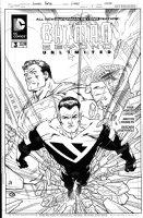 PORTER, HOWARD - Batman Beyond Unlimited #3 cover, first Superman Beyond cover Comic Art