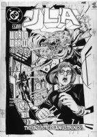PORTER, HOWARD - Grant Morrison' JLA #37 cover- Oracle (Batgirl), Batman, Superman Comic Art